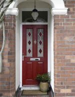 red front composite door