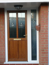 Light Oak upvc Door